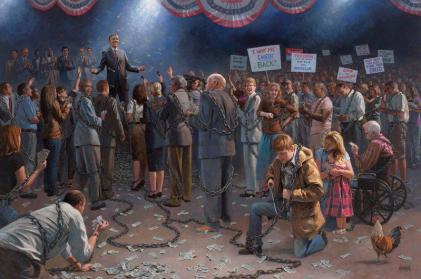 obama and the masses chained