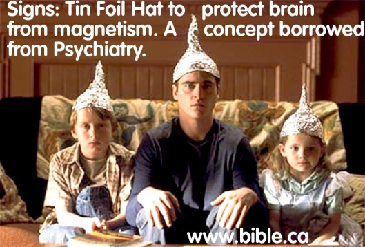 Tin foil psychiatry